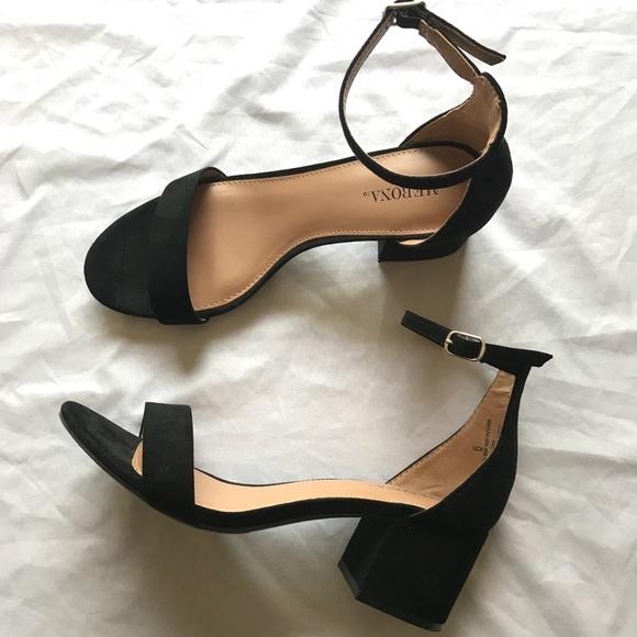 2a7acff299 Merona Shoes | Marcella Low Block Heel W Ankle Straps | Poshmark